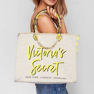 VS Angel City Yellow Striped Python Tote Large